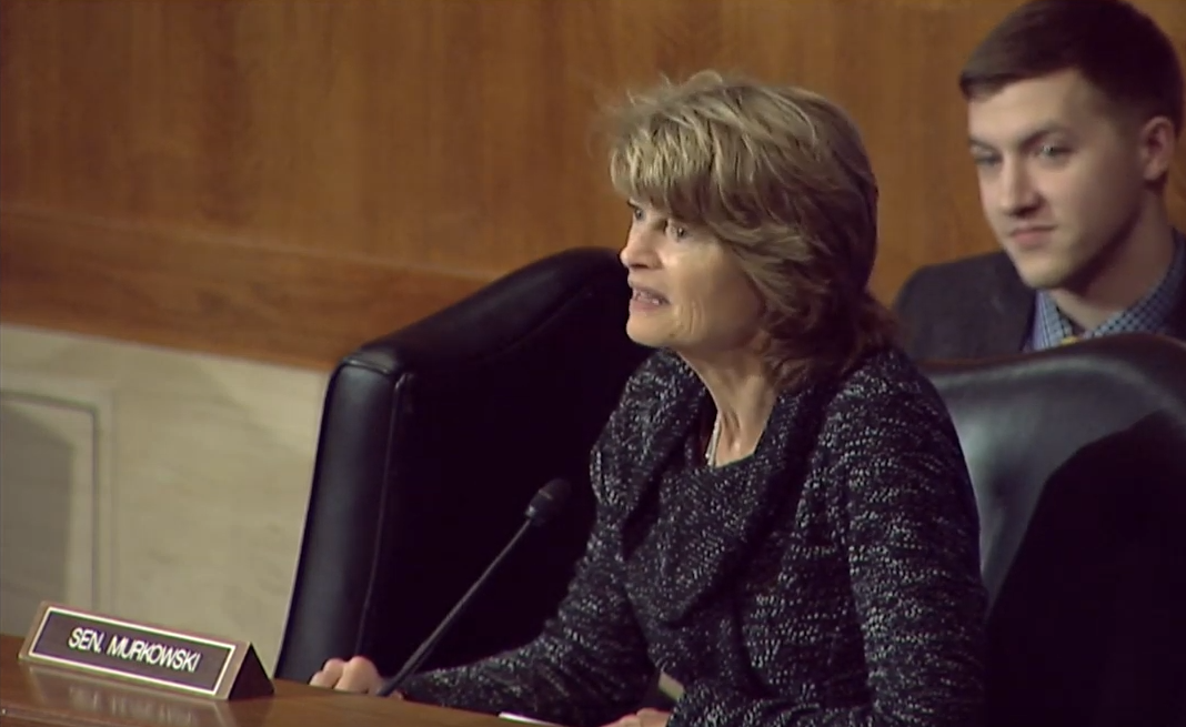 Senator Murkowski Speaks During a HELP Hearing