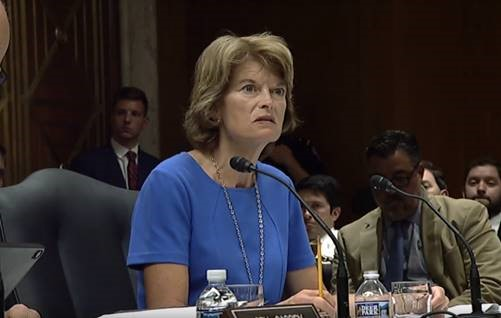Murkowski during a HELP hearing