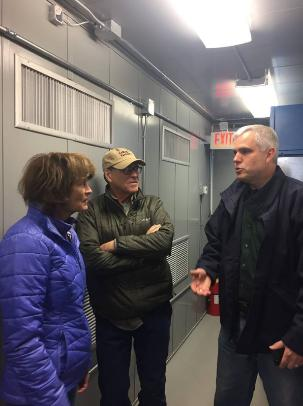 Murkowski and Perry with Kodiak Electric Association  President and CEO Darron Scott